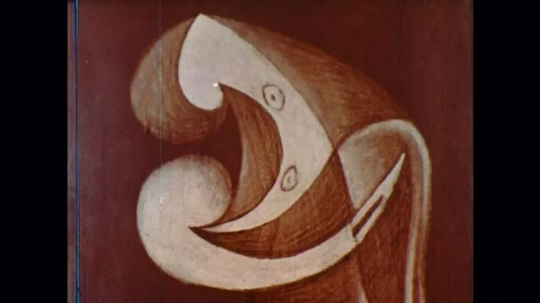 UNITED STATES: 1960s: abstract art work. Carving of a snake