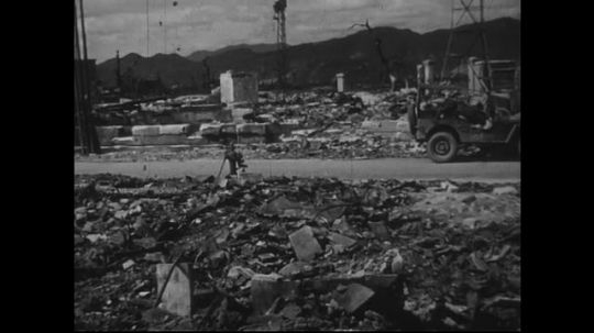 JAPAN 1940s: The repercussion of the atomic bomb on Hiroshima and adjacent areas.