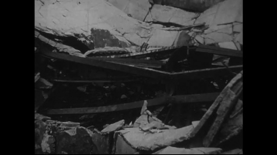 JAPAN 1940s: Damages to structures and sculptures.