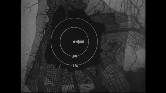 JAPAN 1940s: Although not as strong, effect of atomic bomb still strong a mile away from zero point.