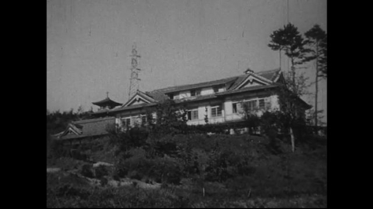 JAPAN 1940s: Damages to Jesuit property a distance away from zero point.