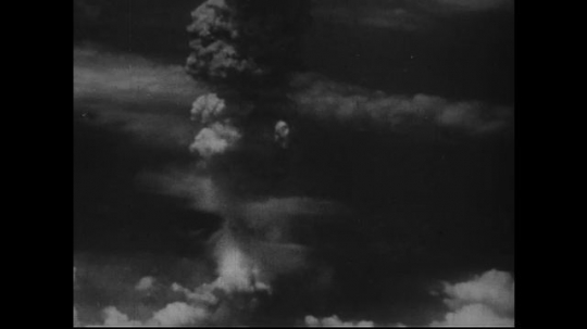 JAPAN 1940s: Radiation from atomic bomb dissipated into stratosphere.