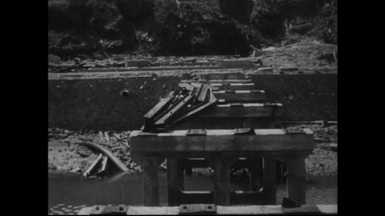 JAPAN 1940s: Bridges in Nagasaki suffered worse fates than in Hiroshima, but other roadways fared better.