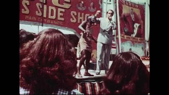 UNITED STATES 1950s : After a side show, people buy their tickets to gain entry into the circus.