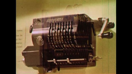 UNITED STATES 1960s: Another rotary calculator from 1891 which had greater capacity than previous rotary calculators.