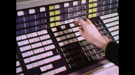 UNITED STATES 1960s: The keys being pressed switch circuits on and off.