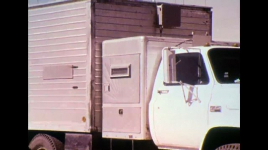 UNITED STATES 1970s - Shots of a truck/van.