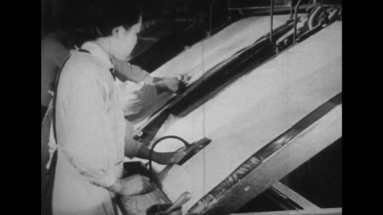 JAPAN: 1943: The daily lives of Japanese women work in clothing factories.
