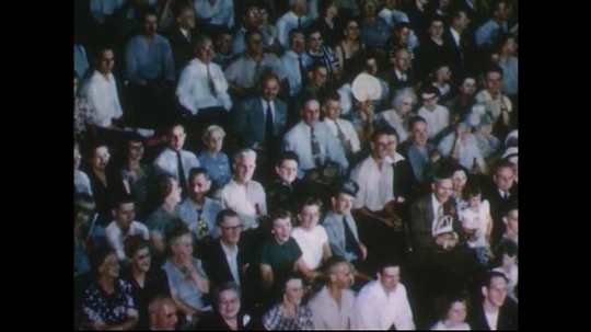 UNITED STATES 1950s: Views of audience at circus.