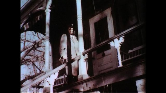 UNITED STATES 1950s-1960s : A doctor leaves a quarantined house as the three cases of typhoid fever are on the grid.