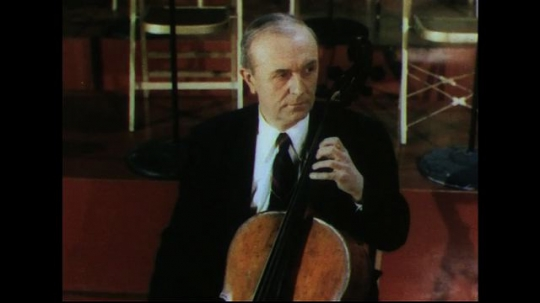UNITED STATES 1950s: Man playing cello.