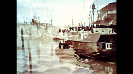 UNITED STATES: 1960s:Boats moored in harbour.