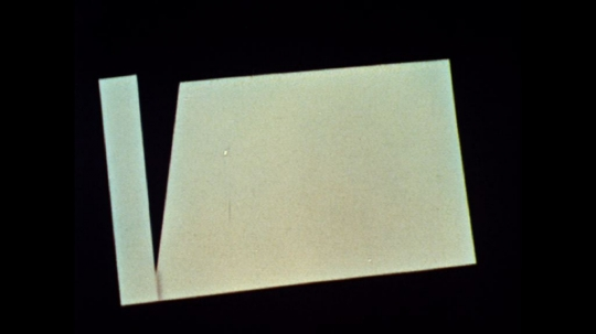 UNITED STATES: 1960s: cardboard shapes on backing board. Animation of shapes. Arrows show direction.