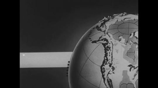 UNITED STATES: 1950s: The movement of light hitting earth.