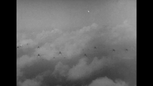 UNITED STATES 1940s: Views of Japanese planes in air.