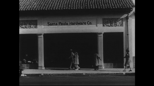SANTA PAULA- CIRCA 1929:  The front of a hardware store called