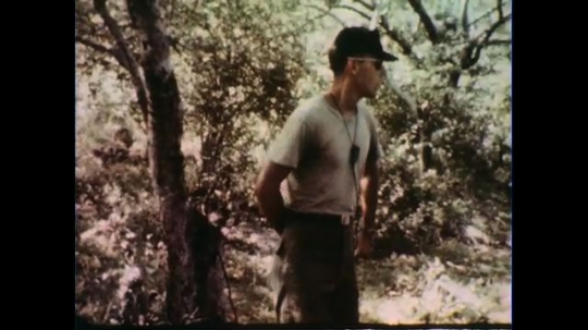VIETNAM 1960s: Officer speaking.