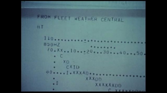 UNITED STATES 1970s: A computer-prepared message is printed to signify forecast.