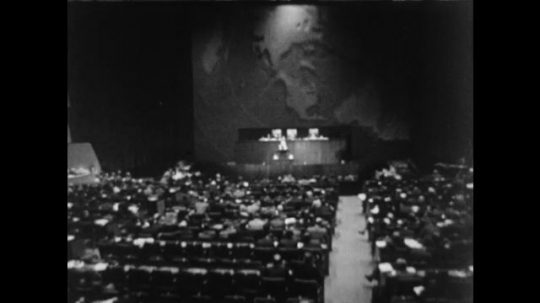 UNITED STATES 1950s: Representatives of member countries of the United Nations meet.