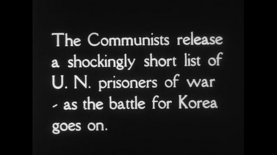 WASHINGTON DC CIRCA 1951 : The Pentagon is viewed as a short list of UN Prisoners of war is released by Communists as the battle for Korea goes on.