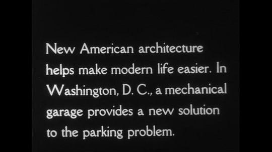 UNITED STATES CIRCA 1951 : Park-O-Mat, a garage in Washington, D.C. provides a solution to parking in crowded cities.