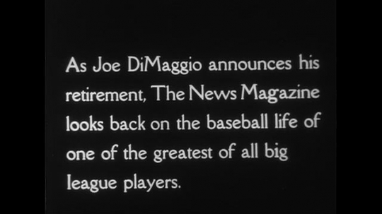 UNITED STATES CIRCA 1951 : Joe DiMaggio is followed by fans as he enters a building and then stands next to the dugout.