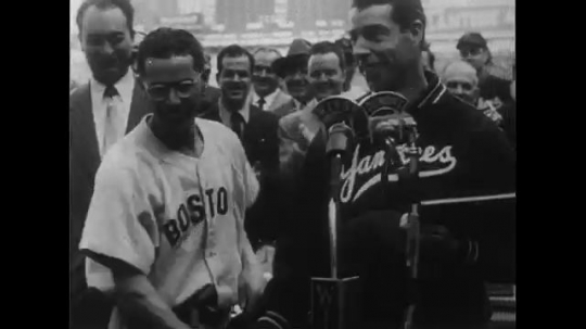 UNITED STATES CIRCA 1951 : Joe DiMaggio is honored for his heroics.