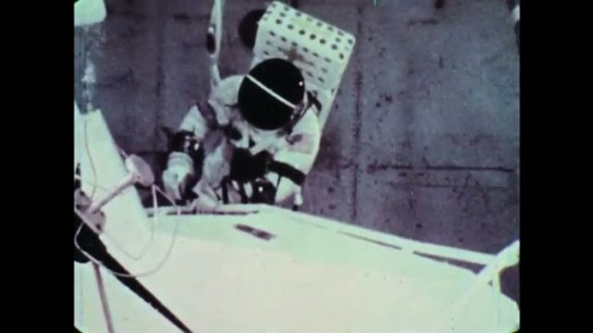 UNITED STATES, 1960s: NASA astronaut training underwater for space walks.