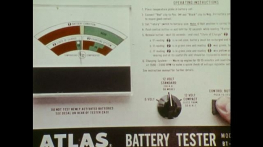 UNITED STATES: Battery condition is shown on Atlas tester.