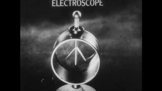 UNITED STATES: Electroscope moves as different rods touch its surface.