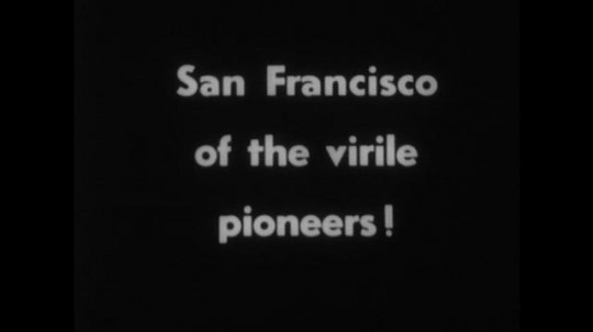 UNITED STATES 1890s: Intertitle / Tracking shot down city street.