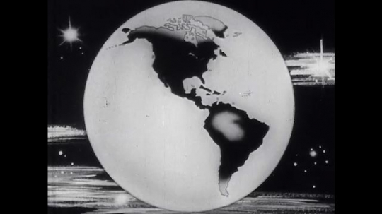 UNITED STATES 1954: Zoom out from outer space.