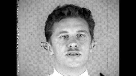 RUSSIA, 1950s: Front view of man