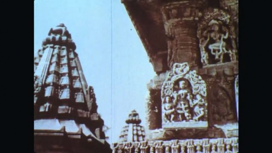 INDIA: 1960s: carved wall of temple.