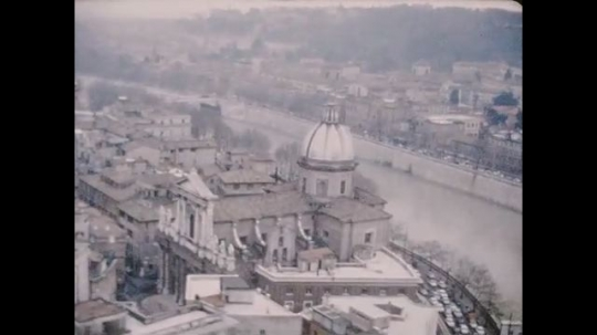UNITED STATES 1960s: Aerial view of Vatican City / Aerial view of Vatican City / Aerial view of Vatican City, St. Peter