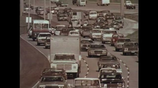 1970s: Cars on highway, fade out / Cars on road at night / Cars driving / Cars on highway / Cars on highway.