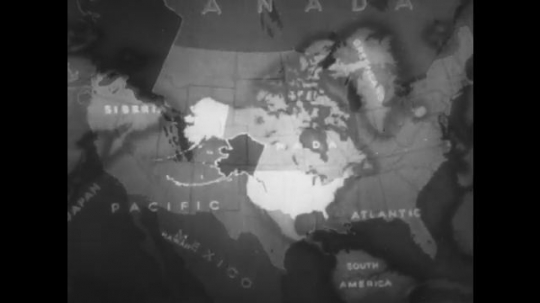 ALASKA: 1930s: map of North America. Map of Alaska. Canada and Siberia on map