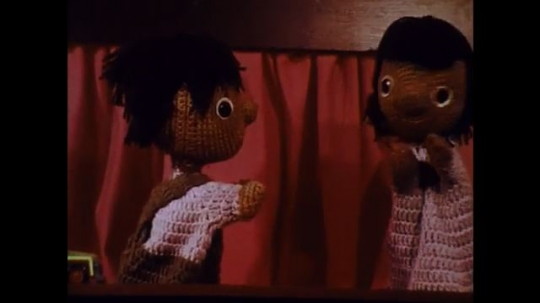 UNITED STATES: 1970s: puppets talk together.