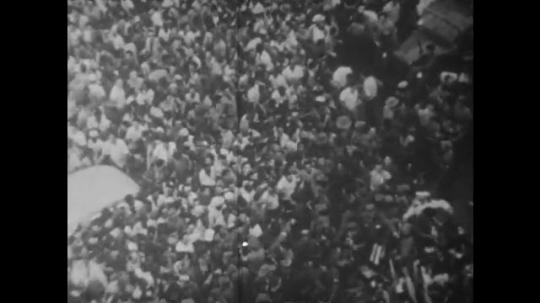 UNITED STATES: 1960S: crowd in Cuba. Castro in Cuba.