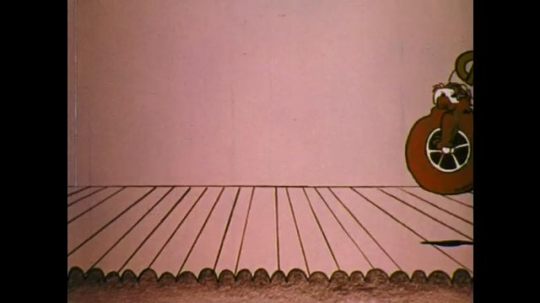 UNITED STATES: 1970s: animated carbohydrate character bounces onto theatre stage