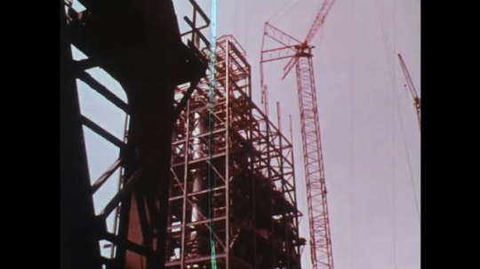 UNITED STATES: 1950s: metal used for construction of building