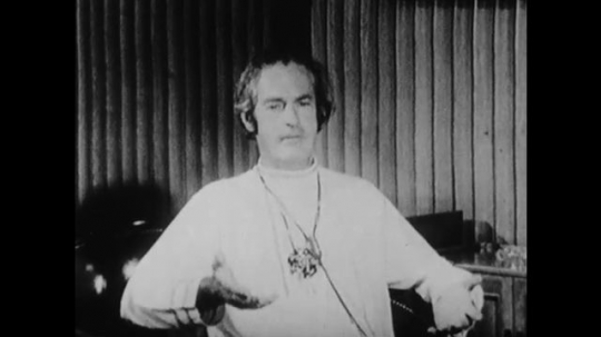 1960s: Timothy Leary talking.