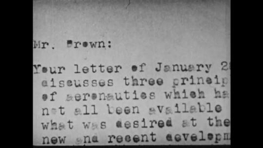 1940s: UNITED STATES: letter with typing errors. Hand dusts down typewriter keys.