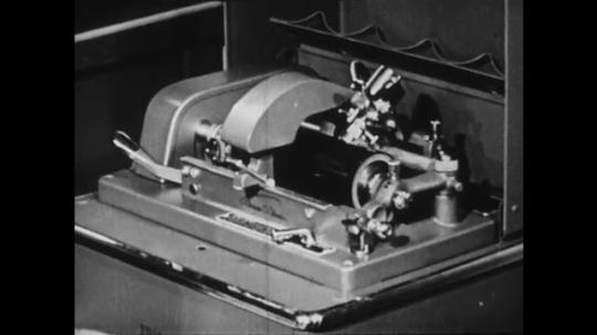 1940s: UNITED STATES: machine works mechanically.