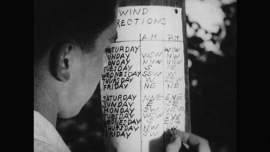 1950s: A boy records Friday