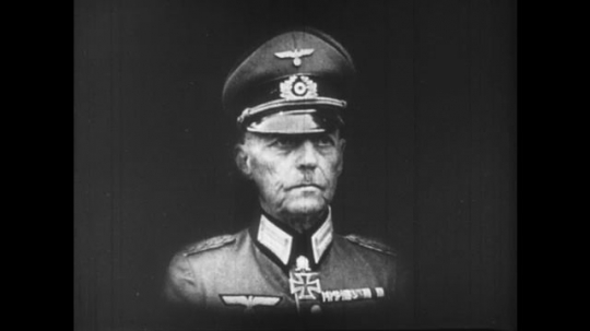 Europe 1940s: photo of Gerd von Rundstedt.  Quotation as title.