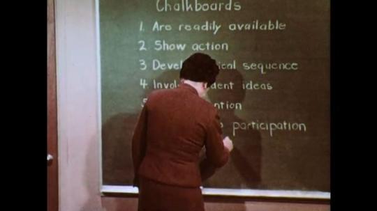 1950s: Teacher adds