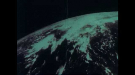 1960s: Rotating view of earth from space.