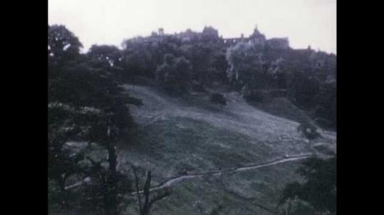 1940s: Views of Edinburgh Castle. Views of Holyrood Palace.