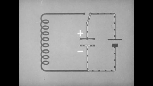 1940s: UNITED STATES: flow of energy around a circuit board. Gate opens and closes.
